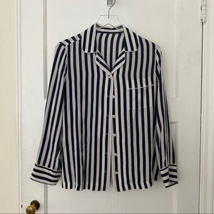 Equipment Lilian vertical striped pajama pj top